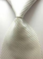 NEW Classic Solid Color Striped Tie JACQUARD WOVEN 100% Silk Men's Tie Necktie F