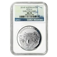 2014 1 oz Silver Australian Koala Perth Mint NGC MS 70
