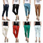 Fashion Mens Trousers Casual Skinny Pants Linen Slim Fitted Loose Straight Pants