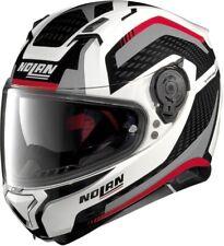 Nolan N87 Arkad N-Com White/Grey/Red 043 Full Face Motorcycle Helmet