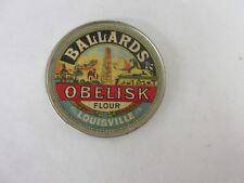 VINTAGE ADVERTISING POCKET MIRROR  CELLULOID BALLARD'S OBELISK FLOUR  143-Q