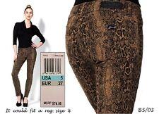 SEVEN7 $74 NEW Sexy Reptile Brown Print Skinny Leggings Jeans JR Cut 5 L30 QCO