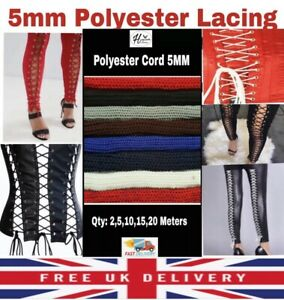 POLYESTER 5MM DRAWSTRING HOODIES REPLACEMENT CORSET LACING LEGGING CORD SHOES