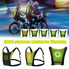 SZJXZ Hobbylane Cyclisme Gilet De V/élo LED Clignotant De S/écurit/é sans Fil pour Bicycle Riding Night Warning Sac /À Dos De Guiding Light