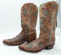 Shyanne Women's Daisy Mae Western Boots Distressed Leather Cowgirl Sz 8