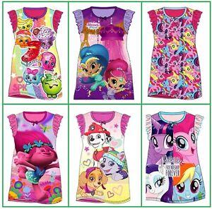 Girls Nightwear Nightie Trolls Paw Patrol My Little Pony. Age 2 3 4 5 6 7 8 Yrs