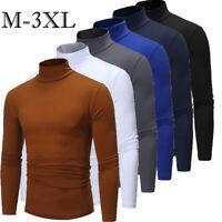Men's Warm Cotton High Neck Pullover Jumper Sweater Tops Turtleneck Shirts S-3XL
