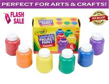 Washable Paint for Kids Toddler Baby Finger Craft Non Toxic,Pack of 6 Paints Set
