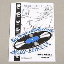 Catalogo BING pigmynette RECORDS disco-Vinile catalog 1927 reprint 2014