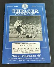 Chelsea v Bolton Wanderers Programme 07/04/50