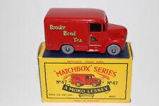 MATCHBOX LESNEY #47A TROJAN BROOKE BOND TEA VAN, GPW, EXCELLENT, BOXED TYPE B #2