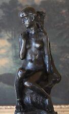 Elegant Claudel Nude Young Woman Female Bronze Marble Figure Sculpture Statue