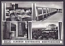 CALTANISSETTA GELA 07 ALBERGO MEDITERRANEO Cartolina FOTOGRAFICA viaggiata 1956