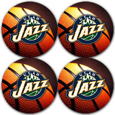 Utah Jazz Basketball Rubber Round Coaster set (4 pack) / RNDRBRCSTR2058