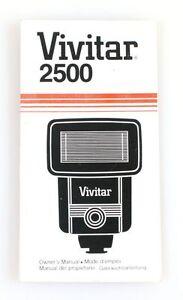 VIVITAR 2500 FLASH MANUAL