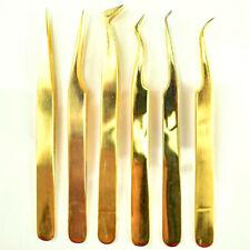 Pinzette Gold Tweezer 3D Volume Wimpernverlängerung Wimpern Lashes Mink Silk