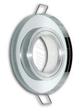 6 Stück Alu/Glas EINBAURAHMEN FÜR GU10 oder MR16 EINBAULEUCHTE FIXED RUND
