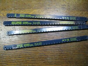 "10 x ECLIPSE 250mm (10"") HACKSAW BLADES 18 TPI. NEW. Made In England"