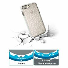 Diamond Texture Crystal Soft Clear Bumper Gel Case Cover For iPhone 7 Plus-White