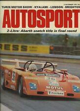 AUTOSPORT 9th NOVEMBRE 1972 * 9 ORE DI KYALAMI FERRARI WIN *