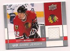 2009/10 Upper Deck Jersey Bernie Nicholls Chicago Blackhawks