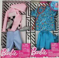 Barbie Ken Fashion Jacket & Pants & Nurse outfit clothing packs lot of 2
