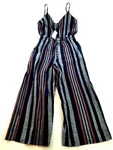 new Splendid women jumpsuit romper pants & top RR0110X navy M MSRP