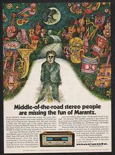 1971 MARANTZ Model 250 Amplifier - 70's Psychedelic Art - VINTAGE ADVERTISEMENT