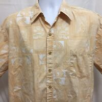 Cooke Street Mens Hawaiian Reverse Print Shirt Sz XL Cotton Made In USA Aloha