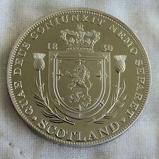 SCOTLAND WILLIAM IIII 1830 PEWTER PROOF PATTERN CROWN