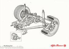 Bildprospekt Alfa Romeo RZ Zagato 1992 Hinterachse Prospekt brochure Auto PKWs