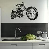 Harley Chopper - Motorbike Wall Sticker / Interior Art / Bike Wall Transfer MO4