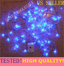 5 Set X 10M Led Christmas Wedding Light Wire String 8 Function Party Blue Color