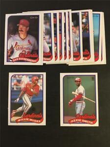 1989 OPC O-Pee-Chee St. Louis Cardinals Team Set 15 Cards