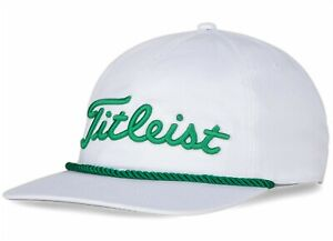 Titleist Golf 2021 RETRO Rope Collection Adjustable Hat/Cap COLOR: White/Green