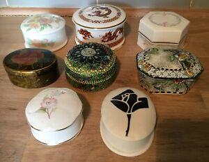8 Vintage China & Other Trinket Boxes