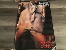 Talking Heads Sire Records Promo Poster 1984 Stop Making Sense