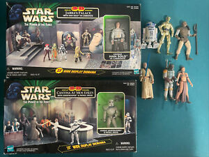 1998 Hasbro Star Wars 3-D Cantina At Mos Eisley & Jabba's Palace Slave Leia Lot