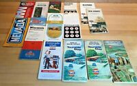 Lot of 15 Vintage Road Maps 1960s & 1970s: Gulf, Texaco, Mobil, Exxon, Standard