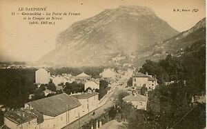 France Grenoble - La Porte de france old postcard