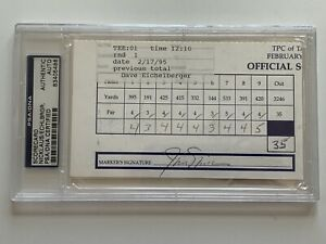 Jack Nicklaus Dave Eichelberger 1995 PGA Golf Scorecard Signed Autograph PSA DNA