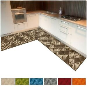 Carpet Kitchen Angular Or Runner Tailored per Meter Weaving 3D Anti Dirt