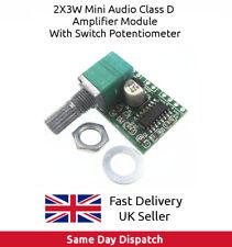 PAM8403 5V Digital Amplifier Board 2 x 3 W Class D with Switch Potentiometer UK