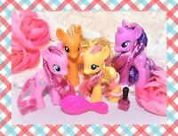 "❤️My Little Pony 3"" Brushable Crystal Empire Twilight Sparkle Fluttershy Lot❤️"