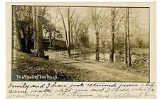 Cornwall NY -THE BEND IN THE ROAD- F.M. Case RPPC Postcard Mountainville