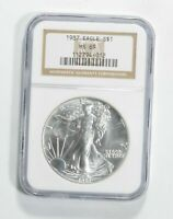 MS69 1987 American Silver Eagle - Graded NGC No Spots - Bright White