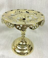 More details for antique brass cake display stand kettle trivet old victorian gothic 19th century