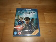 HARRY POTTER AND THE DEATHLY HALLOWS PART 2 BLU RAY 3D BRAND NEW AND SEALED
