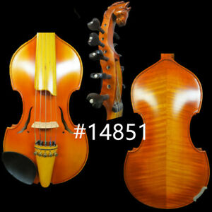 """Baroque style SONG master 5×5 string 14"""" Viola d'Amore,horse's head scroll#14851"""