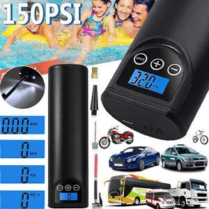 150PSI Akku Reifenpumpe Elektrischer Kompressor Luftpumpe für Auto Moto Fahrrad
